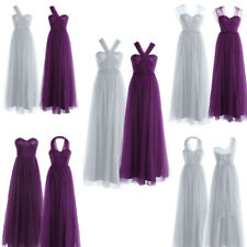 Sexy Womens Bridesmaid Long Dress Mesh Formal Party Evening Prom Ball Gown New