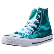 Converse Ct All Star Metallics Hi Womens Blue Canvas Casual Trainers Lace-up