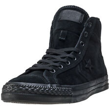 Converse Star Player Hi Mens Black Suede Casual Trainers Lace-up New Style