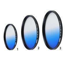 Slim Blue Graduated Color Camera Lens Filter For Canon Cameras 40.5/49/62mm