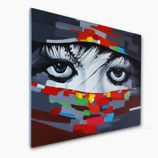 Hand Painted Figure Oil Painting Modern Wall Art Abstract Canvas People Artwork
