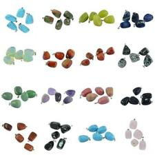 5pcs Natural Gemstone Irregular Shape Pendant Beads For Necklace Earring DIY