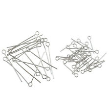100pcs Silver Plated Eye Pins Needles Jewelry Findings DIY Craft 17mm/30mm