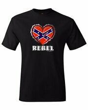 Rebel Heart - black Confederate t-shirt sizes S through XXL