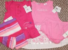 New! Girls Calvin Klein 4 pc Lot (2 Sets - Outfit + Dress) - Sizes 12 or 18 mo