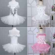 Girls Kids Flower Ballet Tutu Dancing Dress Child Ballerina Leotard Dancewear