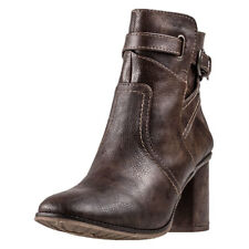 Mustang Heeled Ankle Boot Womens Ankle Boots Brown New Shoes
