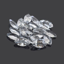 Natural White Topaz Marquise Cut 2X4mm To 5X10mm Calibrated Size Loose Gemstone