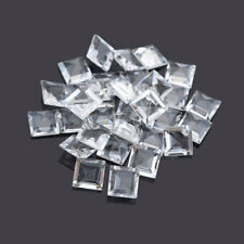 Natural White Topaz Square Cut 4mm To 8mm Calibrated Size Loose Gemstone