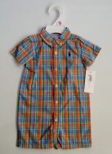 NEW WITH TAG RALPH LAUREN POLO BABY BOY SHORTALL (ONE PIECE)