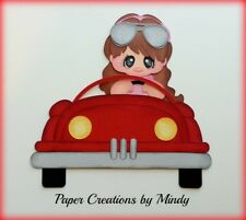Craftecafe Mindy Driving Car Girl License premade paper piecing scrapbook page