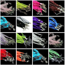 New Organza Voile Ribbon Necklace Silk Cord Thread Wire Lobster Clasp 5Pcs DIY
