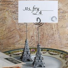 From Paris With Love Collection Eiffel Tower  Place Card Holder Favors / FC-5372