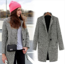 kala Womens winter Fashion Wool Celebrity trench jacket Overcoat Tweed Coat Size
