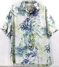 NWT Tommy Bahama Tropical Falls-White Heritage Tortola Silk Camp Shirt $138