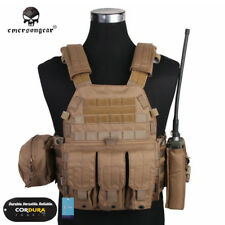 EMERSON LBT6094A Style Plate Carrier Vest with 3 Pouches Hunting Gear CP 7440