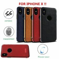 Ultra Thin Luxury Leather TPU Case Cover for iPhone X & 8/7/6s Plus & Samsung SM