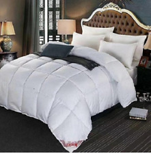 White Goose Down Feather Winter Queen King Quilted Comforter Blanket-5 Sizes