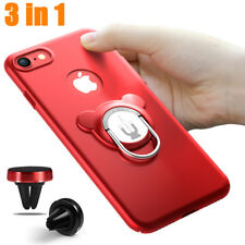For iPhone Ring Kickstand Shockproof Protective Cover Case Magnetic Car Mount  E