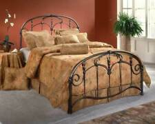 Jacqueline Metal Panel Bed in Old Brushed Pewter Finish [ID 257689]