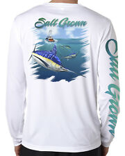 Salt Grown Microfiber Marlin Uv 50+ life fishing long sleeve shirt offshore