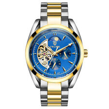 TEVISE Mechanical Automatic Wristwatch Mens Sports Stainless Skeleton Watch