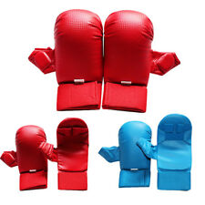 PU Leather Combat Gloves MMA Boxing Punch Bag Martial Arts Karate Judo Mitts