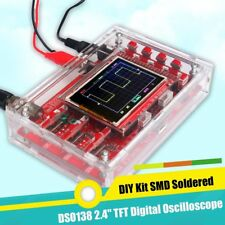 "DSO138 2.4"" TFT Digital Oscilloscope Acrylic Case DIY Kit SMD Soldered New SM"