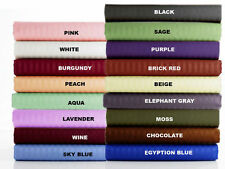 1000 TC Soft Egyptian Cotton Extra Deep Pocket 1PC Fitted Sheet Stripe All Size
