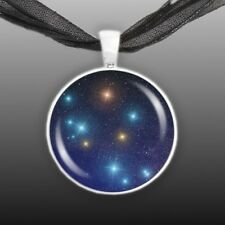 """Southern Cross Constellation Illustration 1"""" Space Pendant Necklace Silver Tone"""