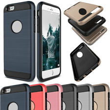 Slim Shockproof Armor Rubber Brushed Hard Case Cover For iPhone 4 4s 7 8 Plus