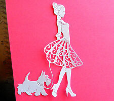 Fairy Princess Valentine CARD TOPPERS birthday invitation cut out tattered lace