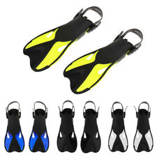 Adult Compact Snorkeling Fins Scuba Diving Swim Pool Training Adjust Flippers