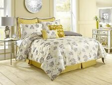 Luxury 8 Piece Comforter Set Bed Bedding queen/king size Vintage Floral Texture