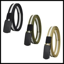 Men's Tactical Military Canvas Automatic Buckle Belt High Quality Jeans Belt NEW