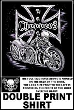 SKELETON SKULL V-TWIN CHOPPER BIKER MOTORCYCLE RIDER T-SHIRT  WS37D