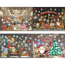Merry Christmas Window Stickers Removable Art Decals Xmas Ornaments (2 Sheets)