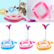 2-in-1 Fish Shape Pet Cat Kitty Activity Dish Funny Cat Interactive Training Toy