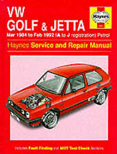 Volkswagen Golf and Jetta ('84 to '92) Service and Repair Manual by Ian Coomber