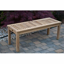 Arbora Teak Solid Teak Backless Bench
