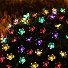 20ft 30 LED Solar Lights String Flowers Outdoor Waterproof Xmas Party Fairy Lamp
