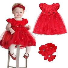 Flower Girls Toddler Baby Tutu Dress+Headband Wedding Princess Pageant Party