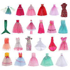 Lace Dress Clothes For Barbie Doll Outfit Evening Gown Party Sequin Skirt Accs