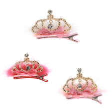 Exquisite Baby Girl Clips Holder Bows Rhinestone Crown Alligator Barrette