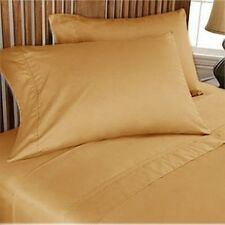 1000 THREAD COUNT GOLD SOLID EGYPTIAN COTTON UK BED SHEET SET/DUVET/FITTED