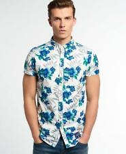 NEW SUPERDRY MIAMI OXFORD SHORT SLEEVE SHIRT LARGE HIBISCUS OPTIC