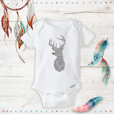Sparkle Reindeer Baby Outfit Onesie First Christmas Baby Gifts Newborn Girl idea