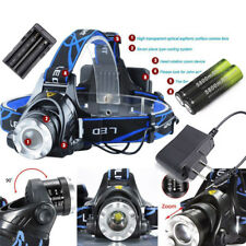 36000LM XM-L T6 LED Headlamp Zoomable HeadLight Torch+18650 Battery+Charger US (