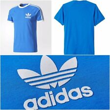 Genuine Adidas Mens Trefoil Sky California Tees Crew Neck Retro TShirts S M L XL