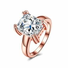 Elegant Women Ring Jewelry Stone Prong Setting Square Shaped For Prom PartySM